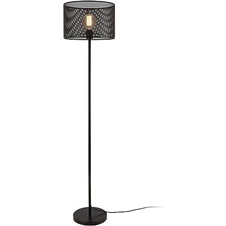 lux.pro] Lampadaire Lampe à Pied Métal Noir E27 153 cm