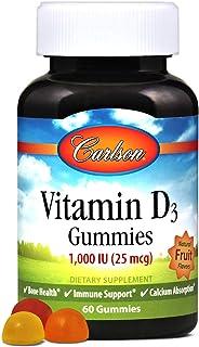 Carlson Labs La Vitamina D3 Gomitas. 1000 Ui Frutas Naturales 60 Unidades 170 g