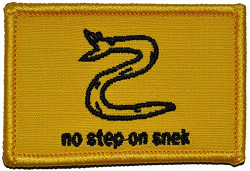 No Step On Snek - 2x3 Patch with Hook Fastener Backing (Full Color)