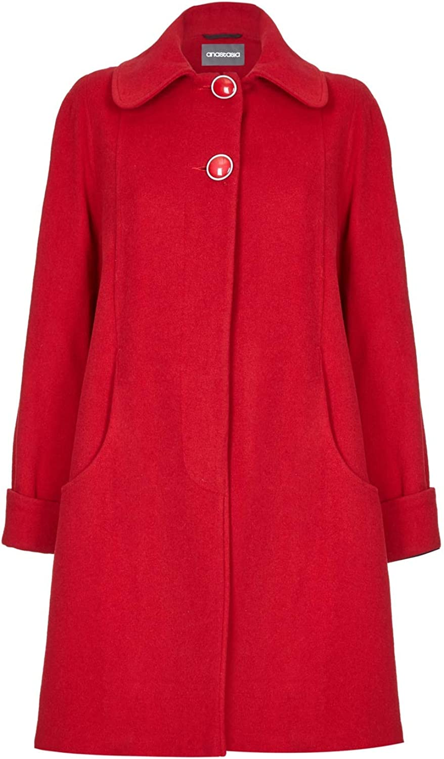 De La Creme Womens Swing Wool Cashmere Winter Coat