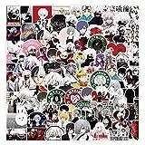 NAVK Paquete de 100 pegatinas de anime – Tokyo Ghoul, pegatinas de vinilo para ordenador portátil, monopatín, coche, botella de agua, impermeable, para adultos, adolescentes, niñas y niños