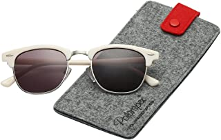 6eb089b2c6 Polarspex Unisex Retro Classic Stylish Malcom Half Frame Polarized  Sunglasses