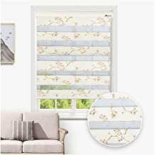 LIQICAI Zebra Dual Roller Blinds Horizontal Window Shades Day and Night Window Drapes Free-Stop Breathable Fabric Home Improvement (Color : A, Size : 120x180cm)