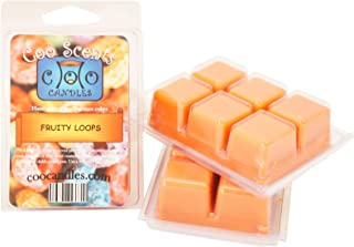 Coo Candles 3 Pack Soy Wickless Candle Bar Wax Melts - Fruity Loops (Scented)