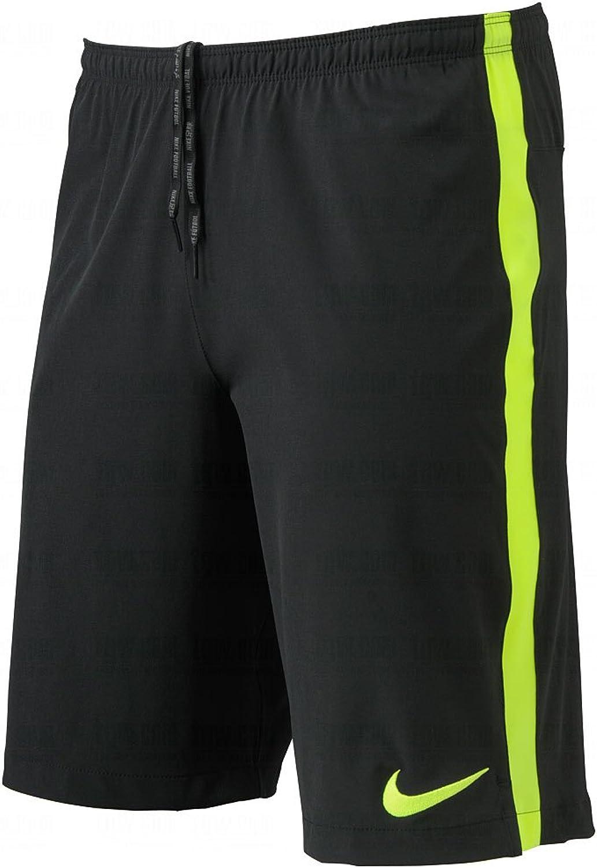 Nike Mens Dri-FIT Select Strike Longer Woven Short Black Volt Large