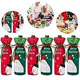 MZZYP 6 Définit Les couvertures de Bouteilles de Noël Coups laids Couverture de vin Décor de la Bouteille pour décorations de Table de fête de Noël (Ensemble de Couleurs 2)