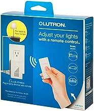 Caseta Wireless 300-Watt/100-Watt Plug-In Lamp Dimmer with Pico Remote Control Kit - White