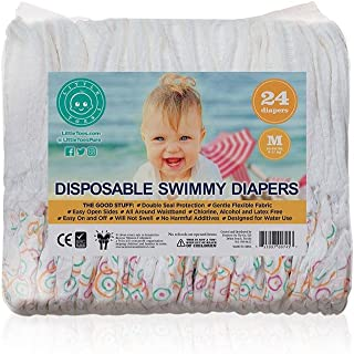 Little Toes Natural Disposable Swimmy Diapers (Medium, 24 Count) (Mom's Choice Gold Award Recipient)