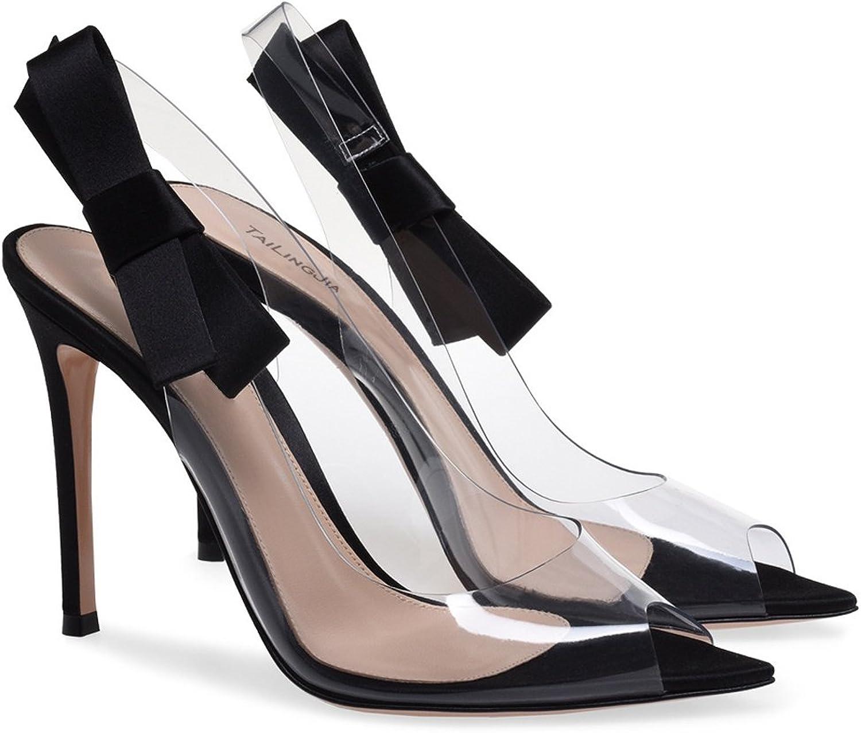 L@YC Damen High Heels Transparent Transparent Funkelnd Peep Toe Hochzeit Outdoor Party  PVC  Kostenlose Lieferung und Rückgabe