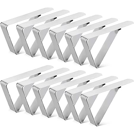 6 Pack Stainless Steel Table Cloth Cover Clip for Home Kitchen Restaurant Picnic