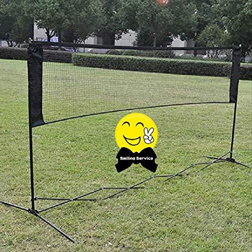 Mixbeek Outdoor Trainingsnetz, Professionelles Badmintonnetz Standard-Badmintonnetze Garnituren Indoor-Outdoor-Sport Volleyballtraining Schnellstart Tennis Badminton Square Net 5.9M*0.79M