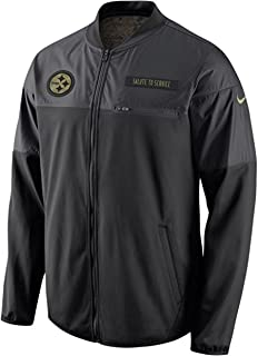 c02fdf5cbdd0a Nike Pittsburgh Steelers Salute to Service Hybrid Performance Men's NFL  Jacket (Small)