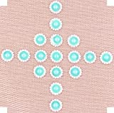 Flat Back Rhinestone Buttons – LeBeila Flatback Embellishments 15 MM Crystal Pearl Fabric Sewing Fasteners Glue On Metal Accessories for Craft, Wedding Dress & Clothing Decorations (10 pcs, SkyBlue)