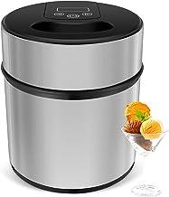 MVPOWER Heladera 2L de Acero Inoxidable para Hacer Helado, Sorbete y Yogur Congelado en 20-40 Minutos Máquina de Bajo Consumo Máquina