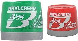 Brylcreem Aqua-Oxy Hair Styling Cream Original Nourishing 250 ml & AQUA-OXY Styling Cream Anti Dandruff Scalp 250 mL Combo...