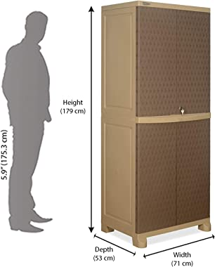 Nilkamal Freedom FB6 Plastic Cabinet Beige/Brown