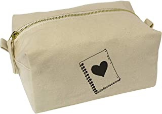 'Heart Notepad' Canvas Wash Bag / Makeup Case (CS00018404)