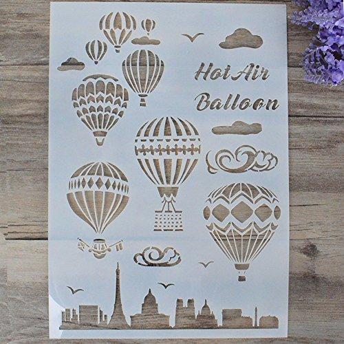 Flybuild - Stencil elegante per stampe, disegno, pittura, aerografo, scrapbooking, album, decorazioni fai-da-te G