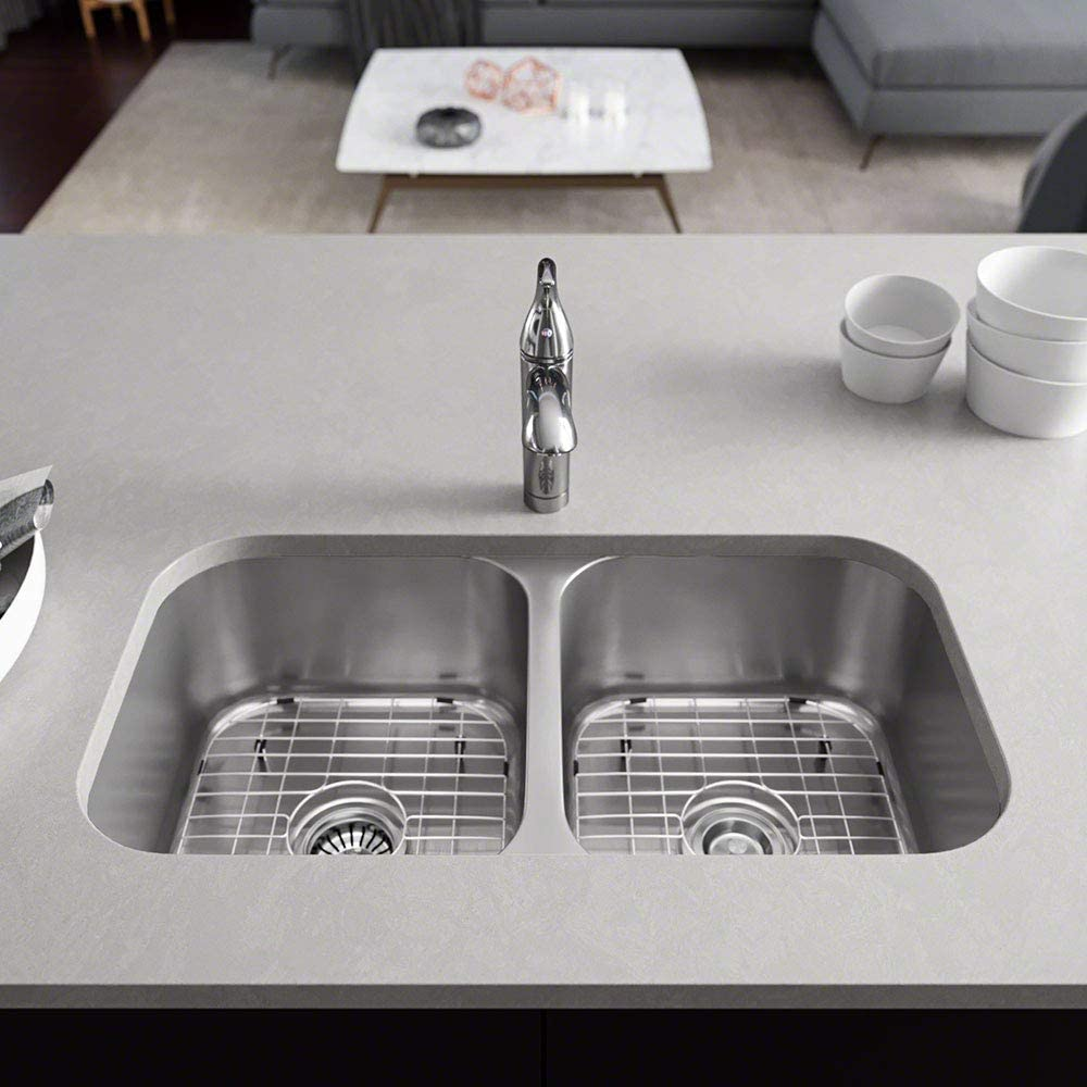R1-1024A-16 Double Bowl Undermount Steel Kitchen Discount Direct store mail order Stainless Sink