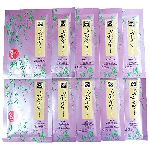 やまつ辻田国内産一味唐がらし(辛口)10袋セット