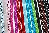 LaRibbons Polka Dot Grosgrain Ribbon, 3/8', 16 Colors