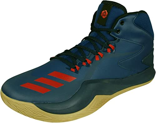 Adidas D Rose Dominate Iv Chaussures de Basketball Homme, Bleu (Azumis Escarl Maruni) 50 EU