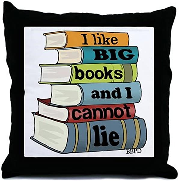 CafePress I Like Big Books Decor Throw Pillow 18 X18