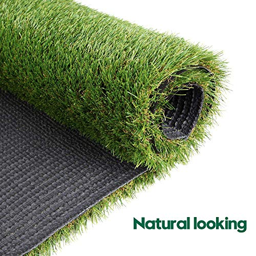 WarmShe Artificial Grass Turf 1,38inch 4 Tone Indoor/Outdoor Artificial Grass/Turf/Garden Grass Rug (4FT x 6FT)