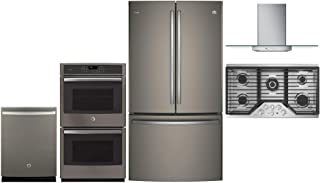 GE Profile 5 Pcs Kitchen Appliance Package with 36