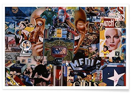 """Juniqe® Pop Art Poster 60x90cm - Design """"Bumerang, 1980"""" entworfen von Gothans Papierwelten"""