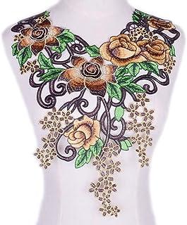 SKREOJF Couture en dentelle brodée à fleurs pour vêtements Applique DIY Accessoire Dentelle Collier Collier Collier Scrapb...