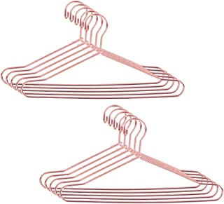 JANOU Rose Gold Dollhouse Clothes Hangers Cute Miniature Wire Clothes Stand Doll Toys Pack 10pcs