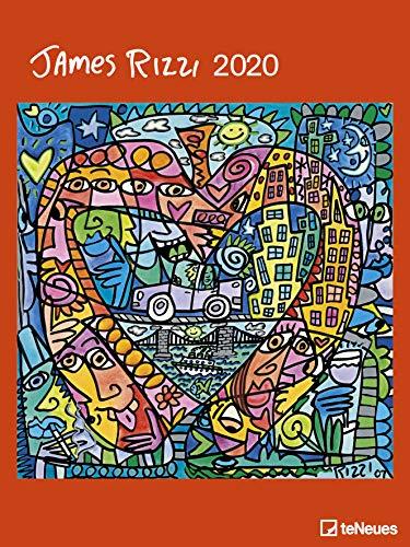 James Rizzi - Kalender 2020 - teNeues-Verlag - Kunstkalender - Wandkalender mit farbenprächtigen Gemälden - 48 cm x 64 cm