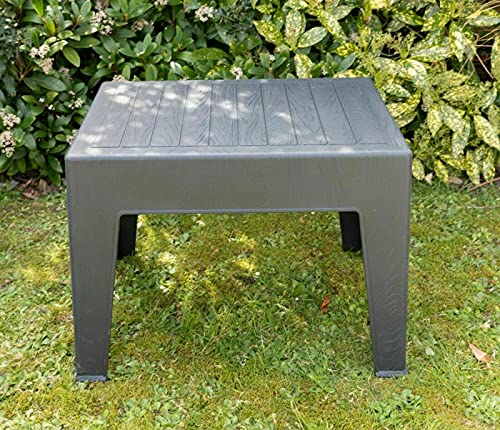 Garden Coffee Side Coffee Table Lounger Chair Bistro Plastic Table Grey