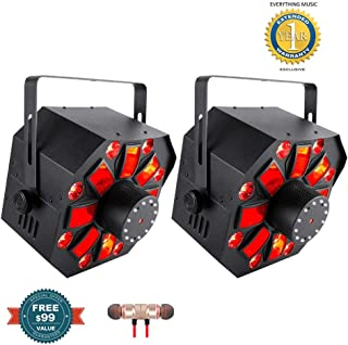 Chauvet DJ Swarm Wash FX Derby/Wash/Strobe Multi-Effect Fixture 2-Pack includes Free Wireless Earbuds - Stereo Bluetooth In-ear and 1 Year Everything Music Extended Warranty