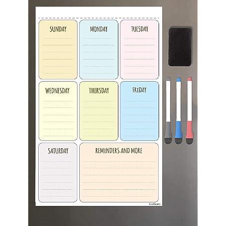 Lifekrafts Magnetic Planner Sheet - Dry, Erase Board