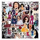 XXCKA 50 Uds Cantante Selena Gomez Graffiti Pegatinas calcomanía Genial Guitarra monopatín teléfono Guitarra Viaje Snowboard DIY Pegatina Impermeable