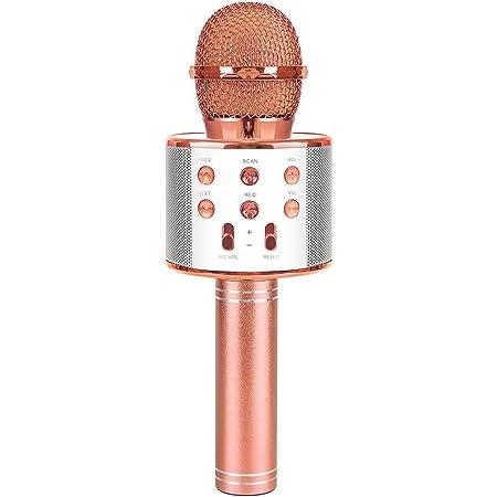 SUNNYPIG Microphone de karaoké sans Fil pour Enfants Chantant Un Jouet de fête - Meilleurs Cadeaux