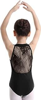 Agoky Big Girls Turtle Neck Lace Back Retro Dancewear Ballet Gymnastics Leotard Costumes