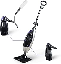 LIGHT 'N' EASY Steam Mop Cleaners 5-in-1 with Detachable Handheld Unit, Multi-Purpose Floor Steamer for Hardwood/Grout/Til...