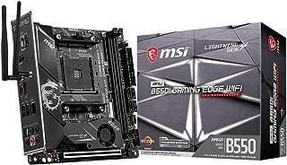 MSI MPG B550I Gaming Edge WiFi Gaming Motherboard, AMD AM4, DDR4, PCIe 4.0, SATA 6Gb/s, M.2, USB 3.2 Gen 2, AX Wi-Fi 6, HD...