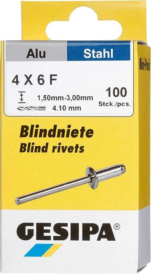 Gesipa Blindniete Mini Pack Alu St 1 Paket 4 X 8 100 Stück Grau 4 X 8 Mm Baumarkt