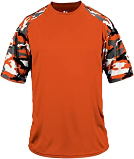 Badger Sport DriFit Camo Sleeve Custom or Blank Jersey Uniform Shirt Top (Youth/Adult, 18 Colors)