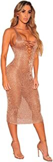 Bikini Cover up, Women Sleeveless Beach Bikini Knitting Smock Mini Cover Ups Dress