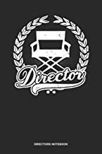 Directors Notebook: Blank Log Book For Movie Lover And Director: Filmmaker Journal | Director Chair Gift