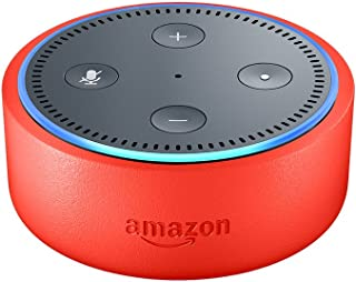 Echo Dot Kids Edition, a smart speaker with Alexa for kids - punch red case