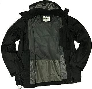Orvis Men's Wahoo Light Weight Rain Jacket with Packable Hoodie - (Black, Medium)