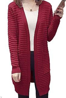 [ジョプリンアンドコー] 6カラー ロングカーディガン カーデガン セーター ポケット付き 冬物 秋物 レディース