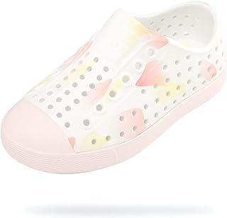 Native Shoes Girl's Jefferson Print (Little Kid) Shell White/Milk Pink/Boxfish Blob 12 Little Kid M