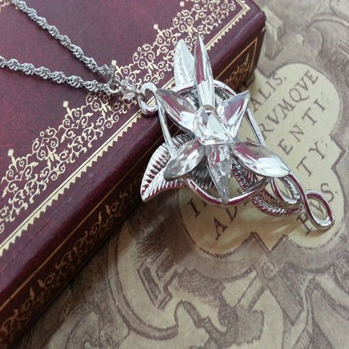 Yongyong 2014 Retro LOTR Lord of The Rings Hobbit ARWEN EVENSTAR Necklace Pendant Silver Color by